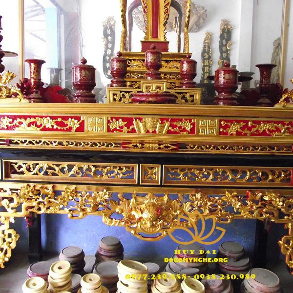 án gian gỗ gụ sơn son thiếp vàng