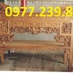 án gian thờ đục rồng bằng gỗ hương