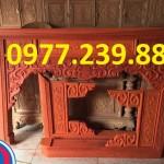 án gian thờ tổ tiên đục rồng bằng gỗ hương