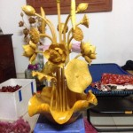 bán hoa sen gỗ mít thờ