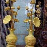 bán hoa sen gỗ thờ cúng