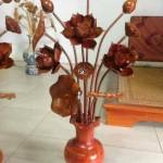 bình hoa sen gỗ mít sơn pu