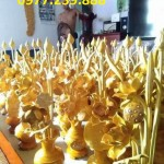 bình hoa sen gỗ mít thờ
