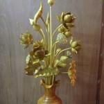 hoa sen gỗ mít thờ 11 bông
