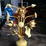 hoa sen gỗ mít thờ