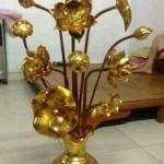 hoa sen gỗ mít thờ sơn son thiếp vàng
