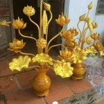hoa sen gỗ mít thờ vip