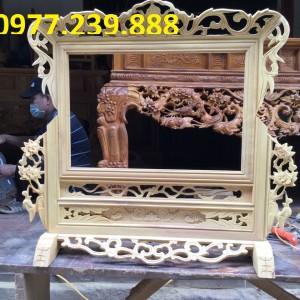 khung ảnh thờ đôi gỗ