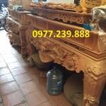 mẫu sập thờ gỗ hương