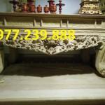 mẫu sập thờ gỗ hương chân 16