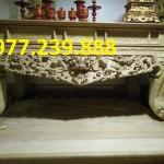 mẫu sập thờ gỗ hương chân 18