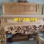 mẫu sập thờ gỗ hương chân 24