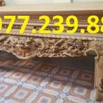 mẫu sập thờ gỗ mít chân 20