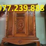 án thờ tổ tiên hiện đại bằng gỗ mít