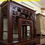 án thờ tổ tiên hiện đại bằng gỗ xoan