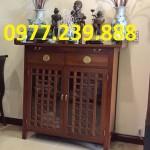 bàn thờ gia tiên gỗ hương
