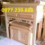 bàn thờ gia tiên gỗ tự nhiên