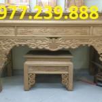 bàn thờ tổ tiên gỗ dổi