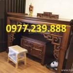 bàn thờ tổ tiên gỗ xoan