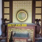 mẫu bàn thờ gia tiên gỗ
