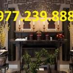 mẫu bàn thờ gia tiên gỗ phong thủy