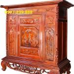 mẫu tủ thờ thiết kế hiện đại án gian gỗ