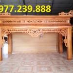 mẫu thiết kế án gian gỗ