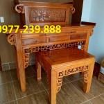 mẫu thiết kế án gian gỗ gõ