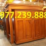 mẫu thiết kế án gian gỗ màu vàng