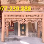 mẫu thiết kế bàn thờ gỗ gõ