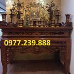 mẫu thiết kế bàn thờ gỗ mít
