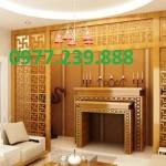 mẫu thiết kế bàn thờ gia tiên gỗ