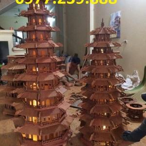 tháp chùa bằng gỗ hương việt