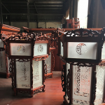 đèn lồng bằng gỗ hương 3 tầng