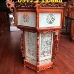đèn lồng trang trí bằng gỗ chùa