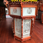 đèn lồng trang trí bằng gỗ hương ở chùa cao 50cm