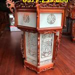 đèn lồng trang trí bằng gỗ hương ở chùa cao 60cm