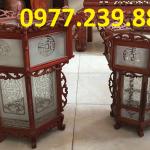 đèn lồng trang trí bằng gỗ hương ở chùa hàng đẹp
