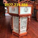 đèn lồng trang trí bằng gỗ hương ở trong chùa giá rẻ