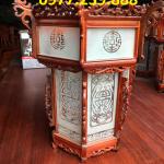đèn lồng trang trí gỗ hương ở chùa