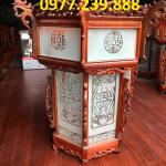 đèn lồng trang trí gỗ hương ở chùa 60cm