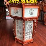 đèn trang trí bằng gỗ hương ở chùa gỗ