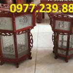 bán Đèn lồng trang trí chùa chiền gỗ hương