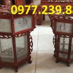 bán đèn lồng gỗ hương 47cm