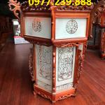 lồng đèn gỗ hương cao 50cm