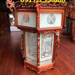 lồng đèn treo trong chùa bằng gỗ hương đá