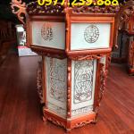 lồng đèn treo trong chùa bằng gỗ hương đỏ