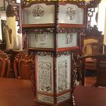 lồng đèn việt bằng gỗ hương lao